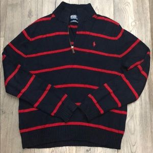 Polo navy and red sweater